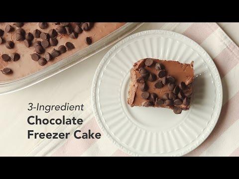 3-Ingredient Chocolate Freezer Cake Recipe | Yummy Ph