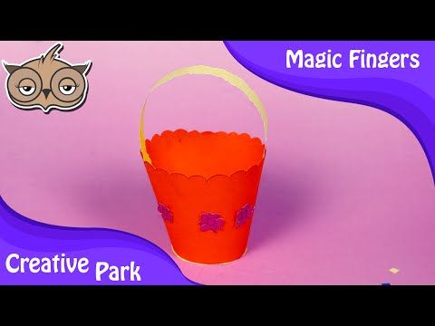 DIY Crafts - How To  Make An Easy Paper Bucket For Kids