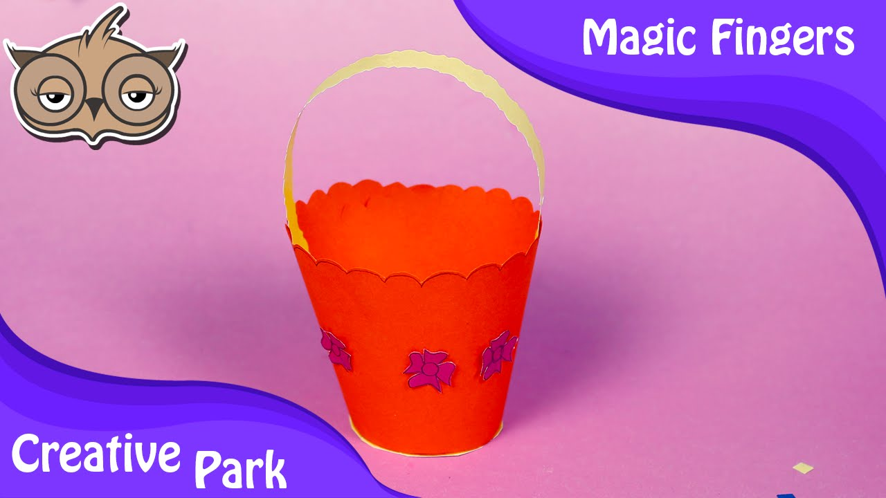 diy crafts how to make an easy paper bucket for kids
