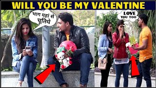 Valentine Rejection prank with Twist !proposing cute girls !prank in india