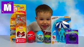 Лизун паук Энгри Бердс Тачки Дисней Самолеты раcпаковка сюрпризов с игрушками
