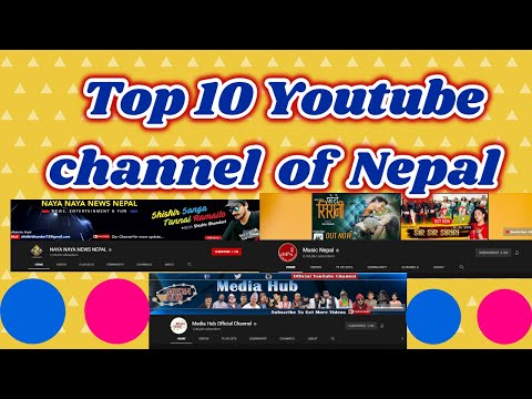 Most Subscribed Youtube Channels In Nepal L Top 10 Youtube Channel  Of Nepal