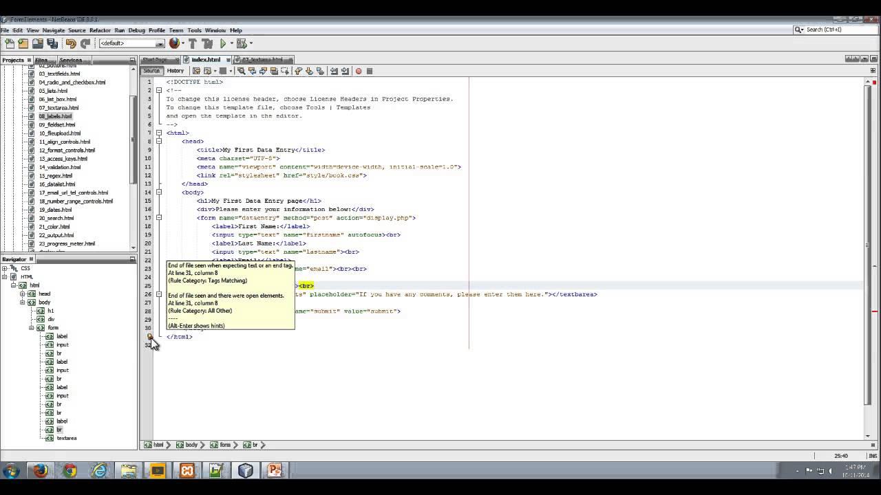 Using Textarea input control on HTML Form - YouTube