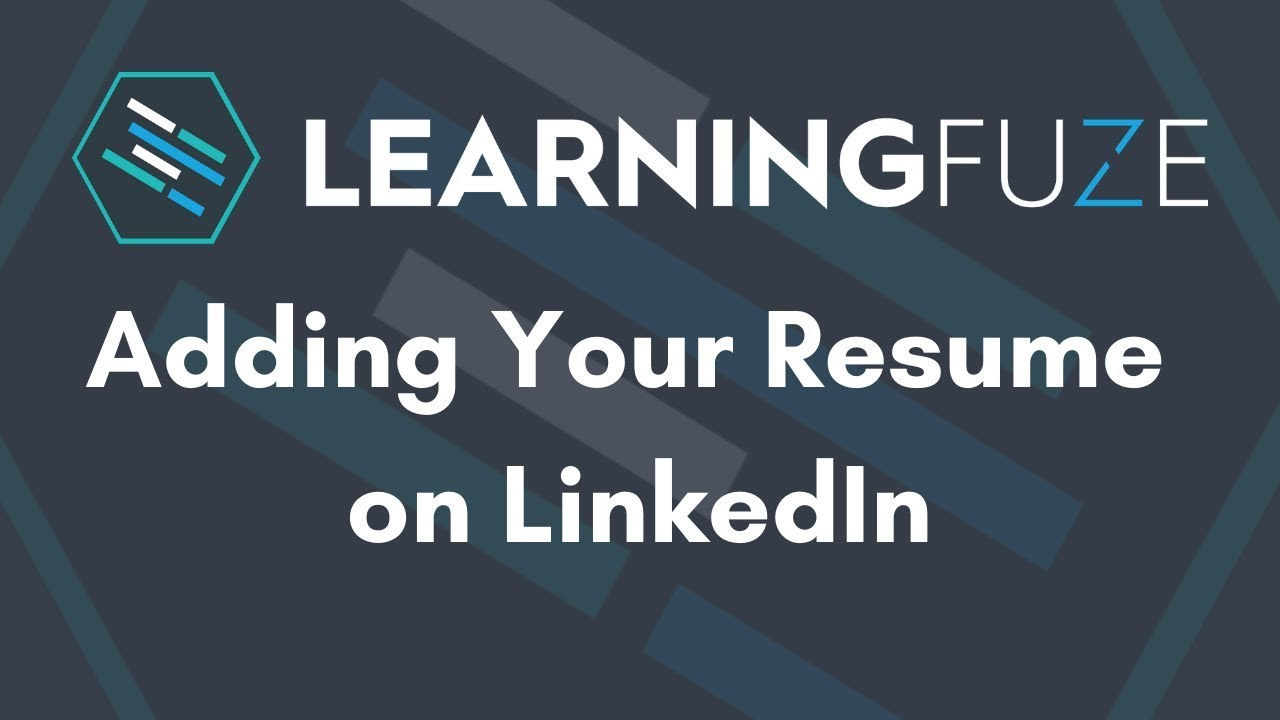 How To Upload Your Resume To Linkedin 2020 Youtube