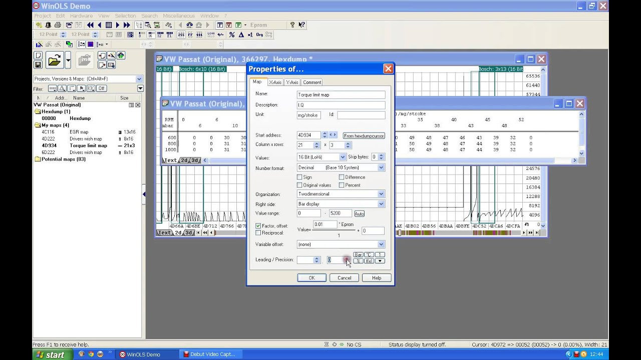 winols guide part 4  How to find Torque map in EDC15 file