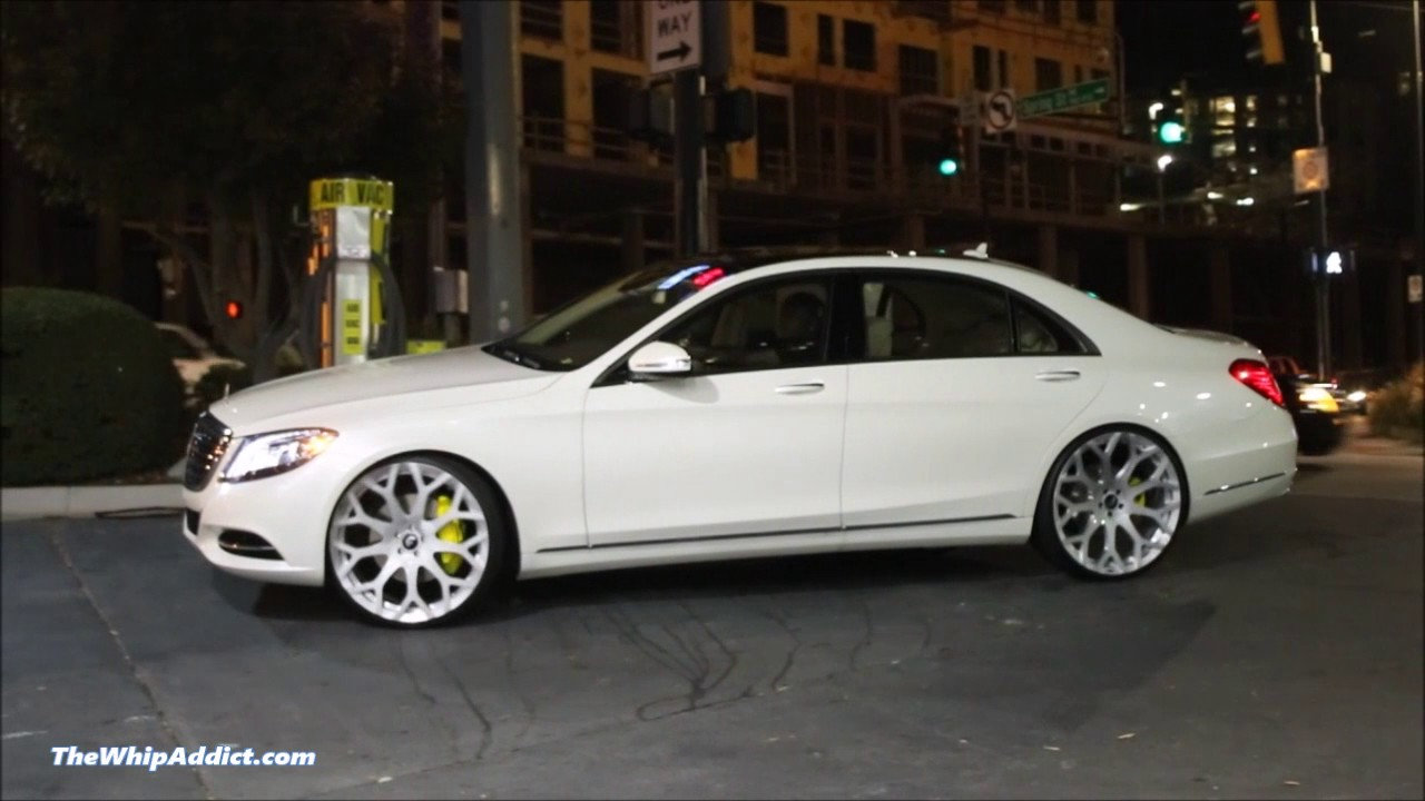 2017 Mercedes Benz S550 Sedan >> WhipAddict: Diamond White 2015 Mercedes Benz S550 on brushed Forgiato Drea Monoblock 24s - YouTube