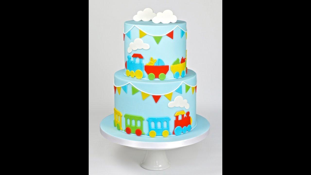 How To Make A Train Cake Decoration Quick Gumpaste Fondant Sugar