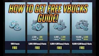COMMENT À GET TONS DE VBUCKS GRATUIT DANS Fortnite Battle Royale! Guide gratuit VBucks!