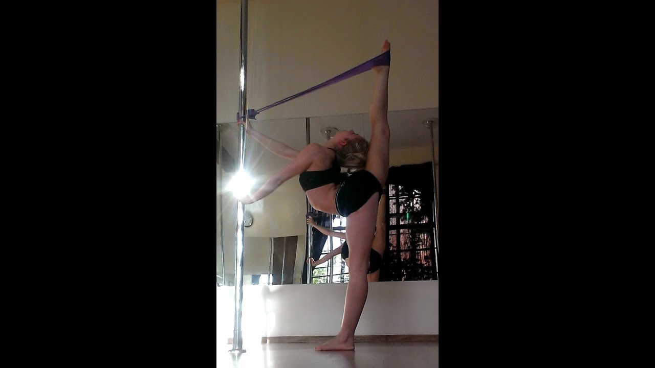Stretching exercises with pole and resistance band for BACK and SPLIT ...