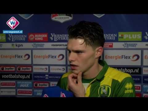 Reactie ADO-speler Danny Bakker na het verloren duel tegen NEC