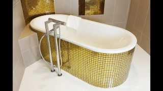 Golden tile(Golden tile. Интерьеры с золотой плиткой и мозаикой., 2015-01-17T09:21:21.000Z)