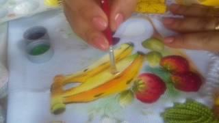Pintura em tecido – Aprenda pintar bananas e um figo aberto