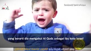 Bocah Palestina Umur 3 Thn Pidato Soal Trump al Quds Dan Masjidil Aqsa