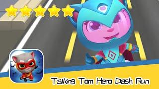 Talking Tom Hero Dash Run Day214 Walkthrough Endless runner Save the world Recommend index five star