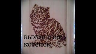 выжигание по дереву набор фантазеры кошка+МАСТЕР КЛАСС+BURNING+MASTER CLASS+CAT
