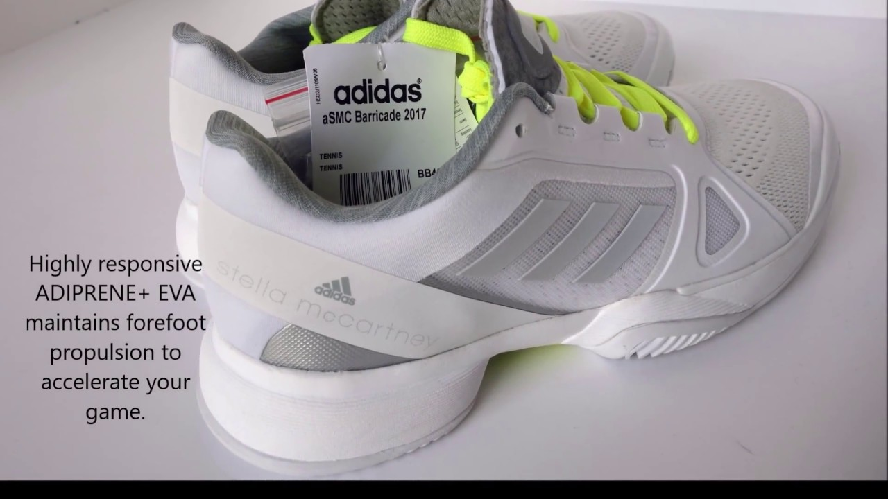 new arrival 519e0 95c2f Adidas Barricade ASMC Boost All Court Shoe Women - Neon White