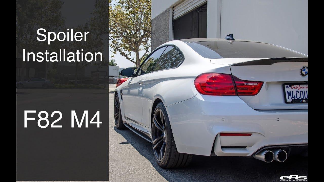 Installing Carbon Fiber Spoiler On M4 Ebay Youtube