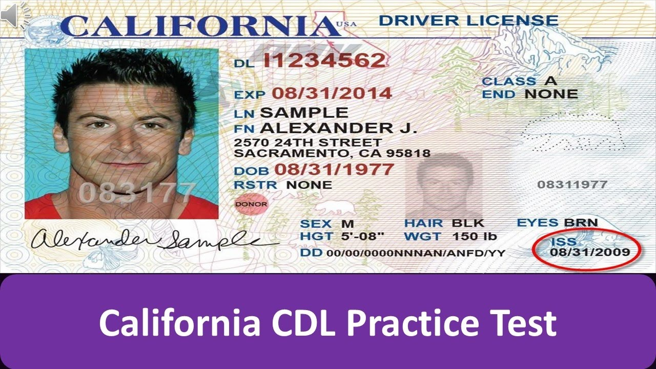 California cdl practice test youtube