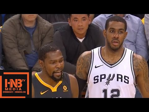 Golden State Warriors vs San Antonio Spurs 1st Half Highlights / Game 2 / 2018 NBA Playoffs
