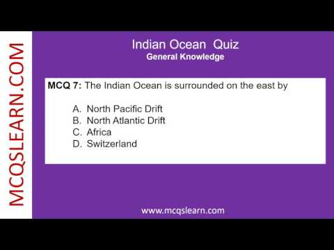 Indian Ocean Quiz - MCQsLearn Free Videos