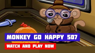 Monkey GO Happy: Stage 507 — Detective · Game · Walkthrough