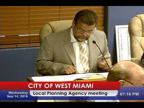 Local Planning agency meeting & Special City Commission Meeting 09/14/2016