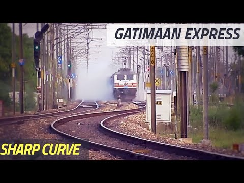 Gatimaan Express On SHARP CURVE At Full Speed