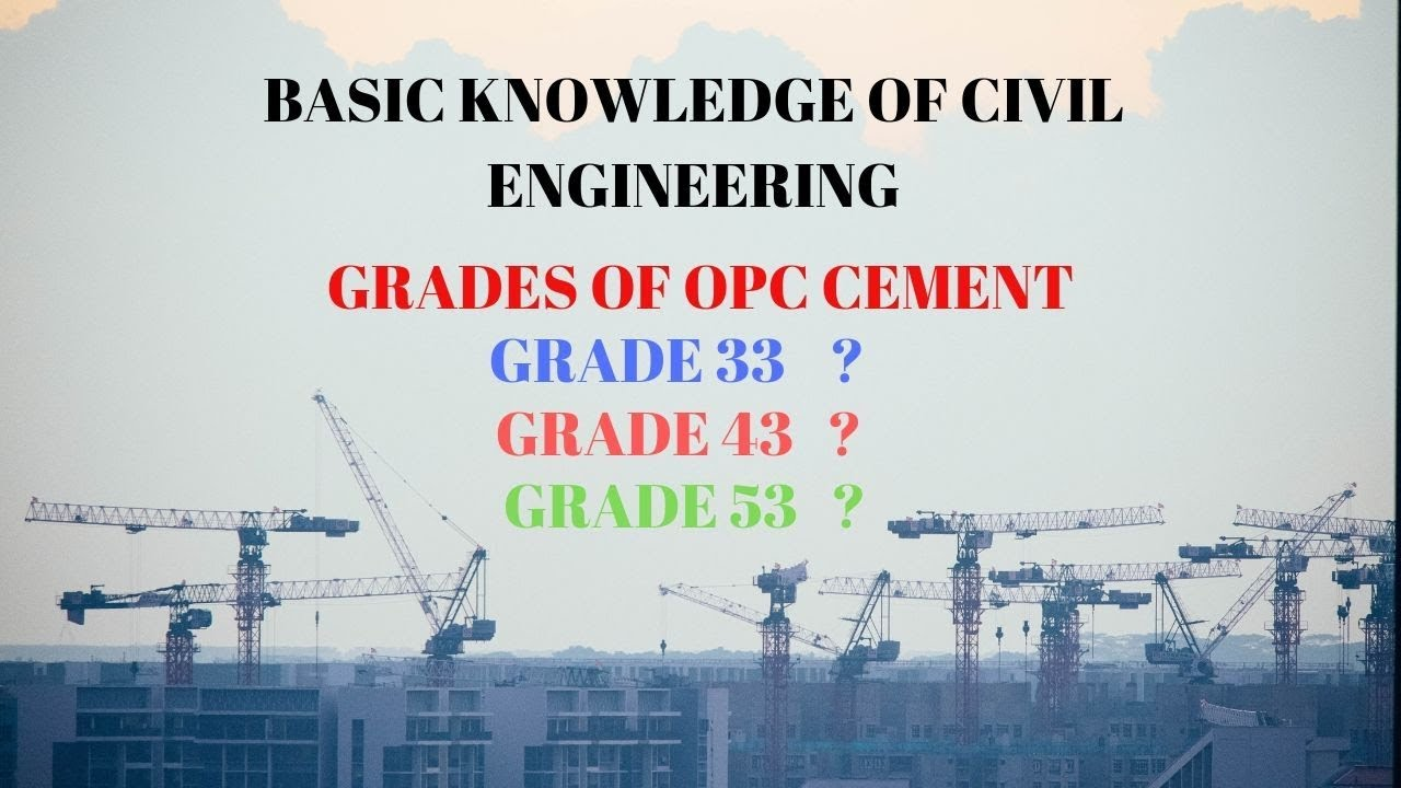PART 2|GRADE OF OPC CEMENT|BASIC KNOWLEDGE OF CIVIL ENGINEERING FOR  BEGINNERS/FRESHERS|