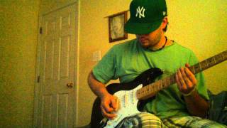 "Staind cover "" right here"". Swapping guitars out"