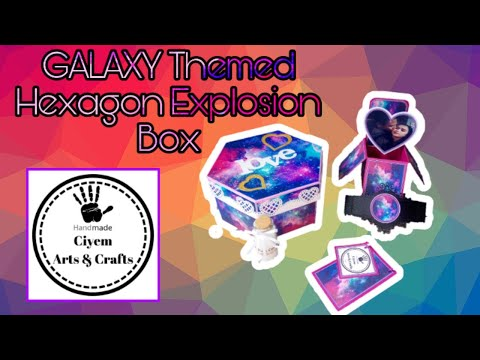 GALAXY Hexagon Explosion box idea | Anniversary gift | Birthday gift | Valentine's day gift