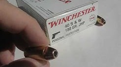 Ammo Test - .40 S&W Winchester White Box