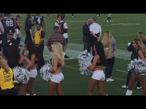 L.A. Rams VS Dallas Cowboys Game And Fans Los Angeles Coliseum 8/12/17