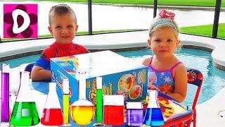 DIY Кинетический Песок ЦВЕТНОЙ Делаем сами Видео для Детей DIY Colors Kinetic Sand Learn Colors