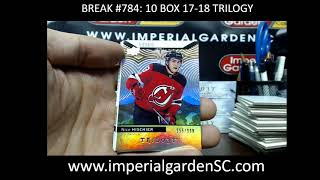 CASE BREAK #784 MAIN: 10 BOX CASE BREAK 17-18 UD TRILOGY  HOCKEY NHL