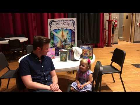Audrey interviewing Actor/Author Chris Colfer!!