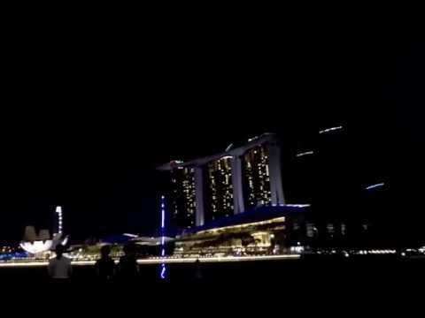 Drones at night - Singapore