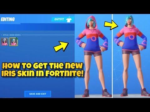 HOW TO GET IRIS SKIN IN Fortnite BR! (IRIS SKIN SHOWCASED WITH EMOTES) NEW Fortnite Samsung SKIN!?