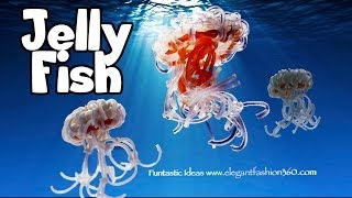 Rainbow Loom 3D JellyFish Charms - How to without loom