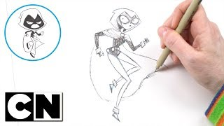 Teen Titans Go! | How to Draw: Raven (Goth Style) | Cartoon Network