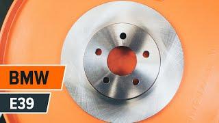 Substituição Jogo de pastilhas para travão de disco BMW 5 SERIES: manual técnico