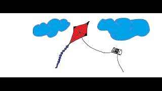 Easy Kids Drawing Lessons:How to draw a KITE