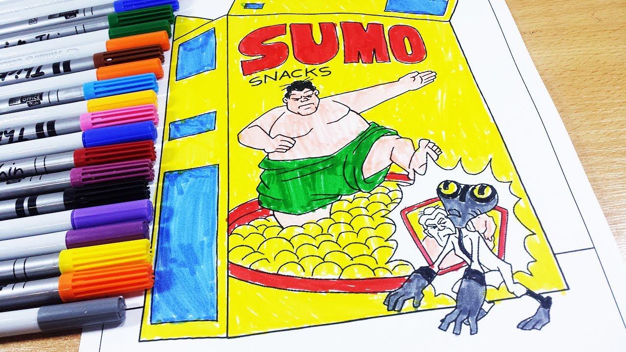 Coloring Pages Ben 10 Grey Matter Sumo Snacks Ben 10 Omniverse