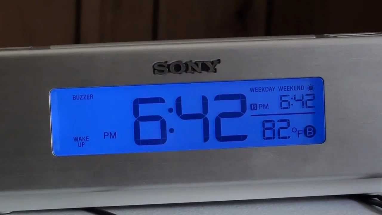 b53ab6629ed Review  SONY Dream Machine ICF-C717PJ Alarm Clock Radio - YouTube