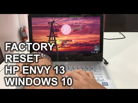 How to ║ Restore Reset a HP Envy 13 to Factory Settings ║ Windows 10