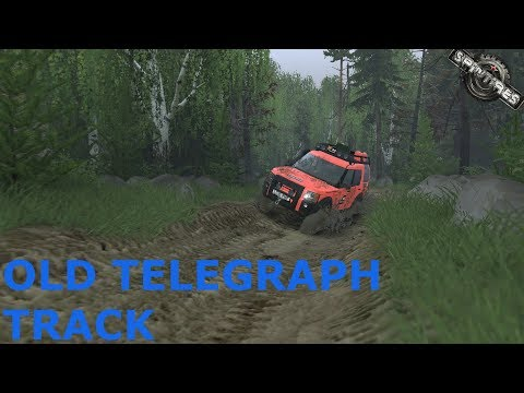 Spintires | Old Telegraph Track | Map Mod | Land Rover Discovery G4 | PC Gameplay