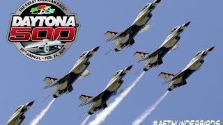 usaf thunderbirds flyover daytona 500 february 26 2017 daytona international speedway