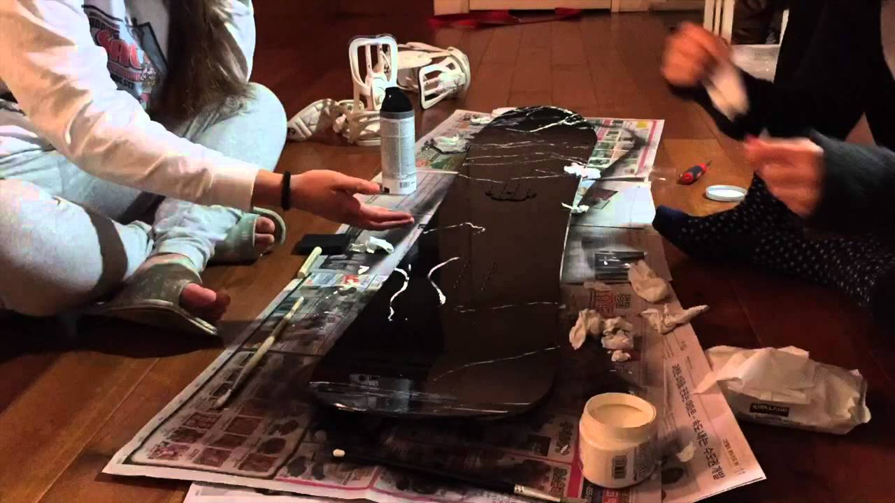 DIY: Black Marble Snowboard Design - YouTube