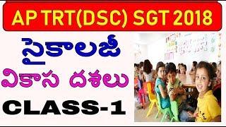 AP DSC(TRT) SGT PSYCHOLOGY CLASS-1|VIKASA DASALU(వికాస దశలు ) DEVELOPMANTAL STAGES||SATHISH EDUTECH