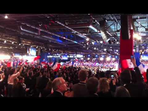 Meeting de Villepinte - Arrivee de Nicolas Sarkozy