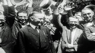 HD Stock Footage Calvin Coolidge 1922-1929 Reel 2, 30th U.S. President